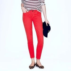 Jcrew Toothpick Ankle Garment Dyed Twill